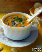 Суп-пюре из запеченной тыквы Чеснок
