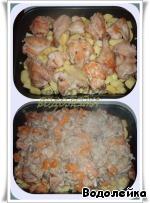 Запеченная курица с тыквой и грибами ингредиенты