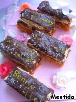 """Пирожные """"Поздравим мы на разных языках"""" - кулинарный рецепт"""