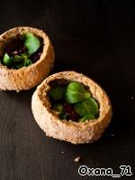 Тeплый салат с грибами и беконом ингредиенты