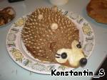 """Печеночный торт с грибами """"Ежик"""" ингредиенты"""