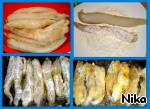 Морской черт, запеченный с овощами ингредиенты