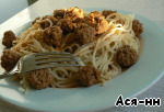 Спагетти с тефтельками под острым томатным соусом ингредиенты