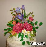 Простые цветочки из сахарной мастики для украшения тортов ингредиенты