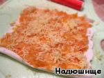 Фаршированные крабовые палочки в кляре Морковь