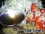 Тeплый салат с белыми грибами Капуста пекинская