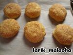 Картофельные колобки с мясом Сухари панировочные