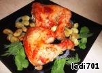 Куриные окорочка под томатным соусом с запеченными дольками чеснока ингредиенты