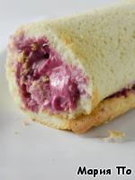 Рулет бисквитный с ягодами ингредиенты