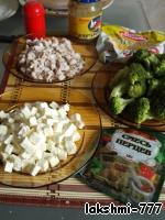 Салат с брокколи, курицей и брынзой ингредиенты