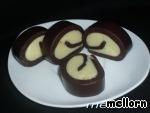 Десерт «Шоколадная завитушка» Сливки