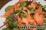 Салат с жареным сыром Салат