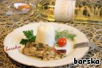 Рыбка в йогуртово-сметанном соусе с зеленью Зелень