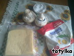 Нежные шампиньоны с сыром в микроволновке ингредиенты