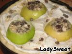 Пирог с фаршированными яблоками Яйцо