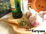 Печeный чеснок и чесночное «масло» ингредиенты