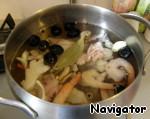 Заливной коктейль «Морской аквариум»