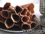 Вафельные рожки  с творожным кремом и клюквой Пшеничная мука