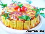 Каннеллони с фаршем, томатами и                         моцареллой «Италия по-русски» Фарш мясной