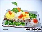 А-ля террин из сельди с бородинским хлебом Филе сельди