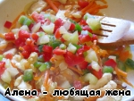 Фунчоза с курицей, грибами и тушеными овощами ингредиенты