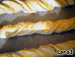 Спиральки из слоeного теста , или быстрый перекусон Тесто слоеное бездрожжевое