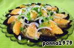 Свекольно-мандариновый салат Мандарин