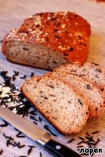 Хлеб с диким рисом и овсяными хлопьями - кулинарный рецепт
