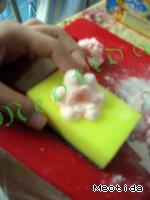 Цветочки-листочки из маршмеллоу Масло сливочное