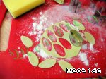 Цветочки-листочки из маршмеллоу Сахарная пудра