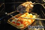 Свиная шейка на вертеле с овощами ингредиенты