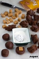 Шоколадное печенье с карамелью ингредиенты