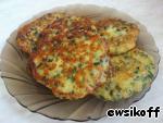 фото Оладьи с зеленым луком и  сыром