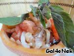 Салат с креветками и грейпфрутом ингредиенты