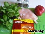 Куриное филе  с томатами и базиликом ингредиенты