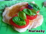 фото Куриное филе  с томатами и базиликом