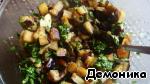 Тeплый салат из баклажанов с кускусом ингредиенты