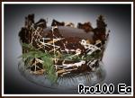 19. Торт пробыл в холодильнике 18 часов перед подачей.  18. Вылить на торт вторую половину шоколада...