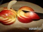 """Украшение """"Лебедь"""" из яблока ингредиенты"""
