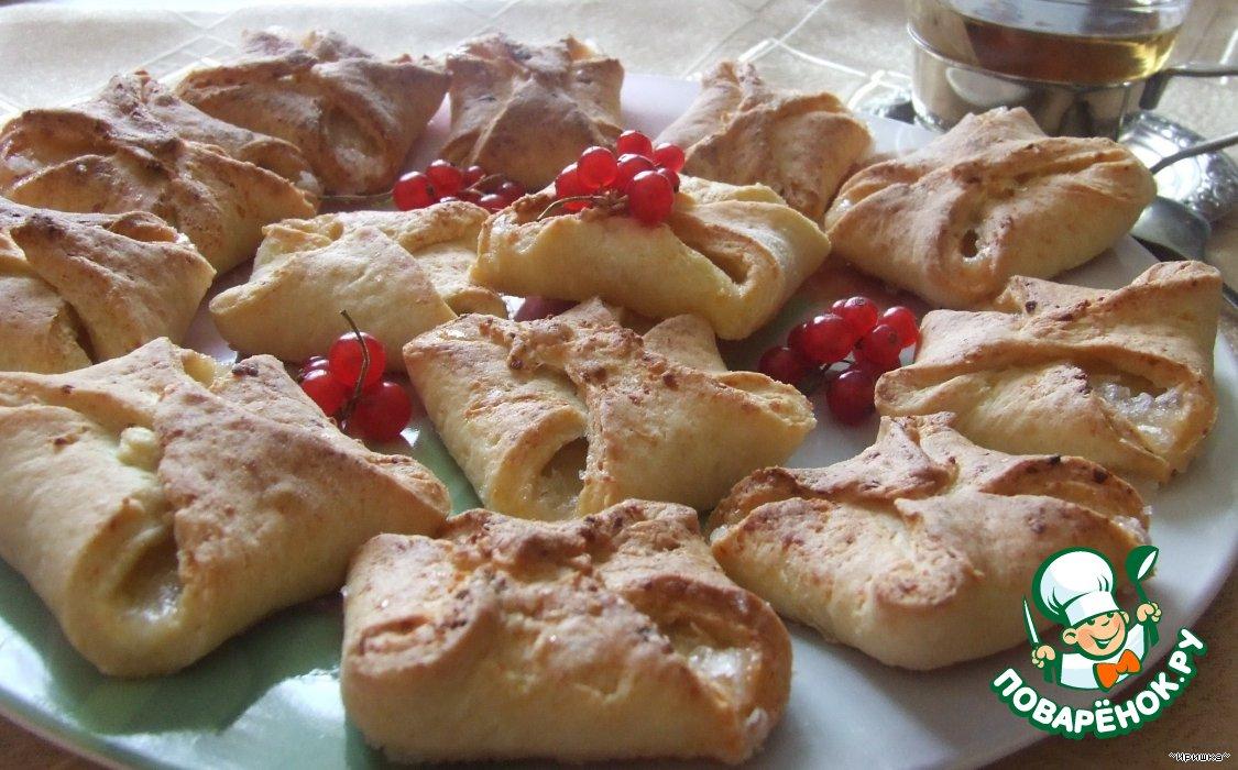 Рецепты творожное печенье конвертики с фото