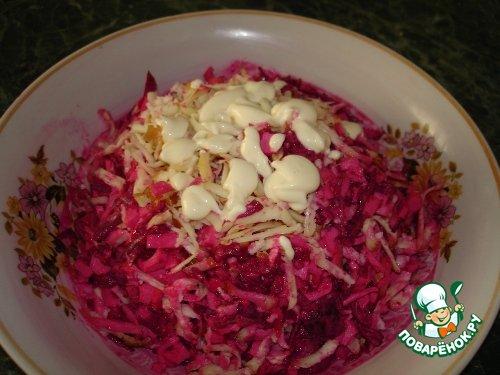 Салат из свеклы и крабовых палочек рецепты с