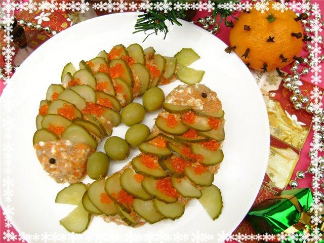 Новогодняя закуска из селедки рецепт