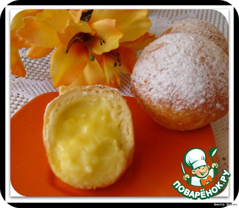 Заварные пончики рецепт с фото