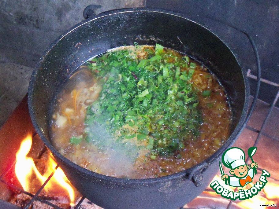 Первые блюда в казане на костре рецепты с пошагово