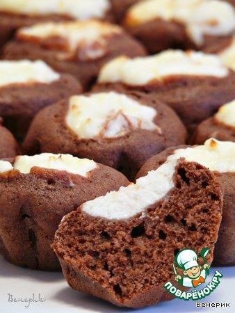 Творожный кекс с шоколадом рецепт с фото
