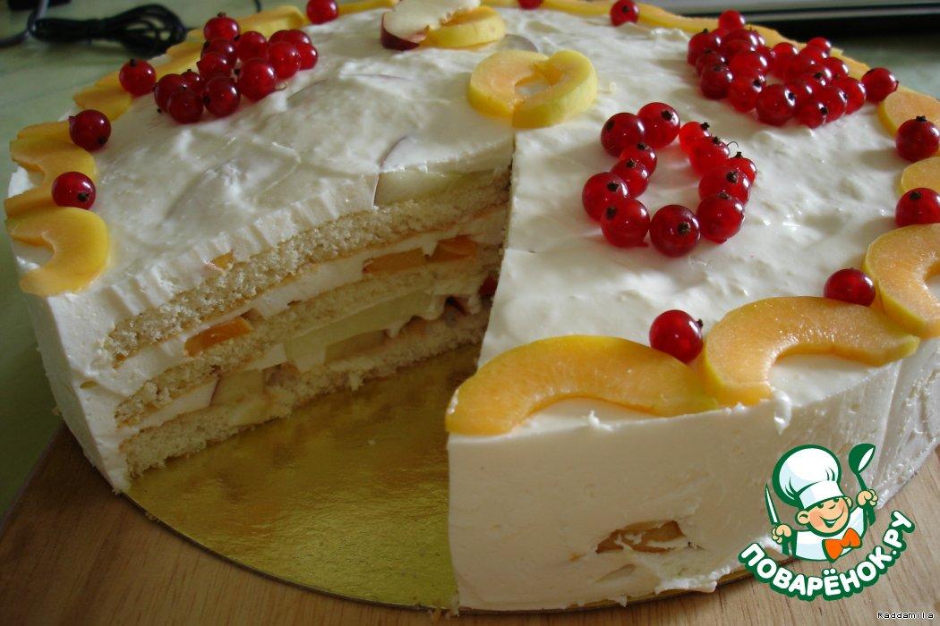 сметанное суфле для торта
