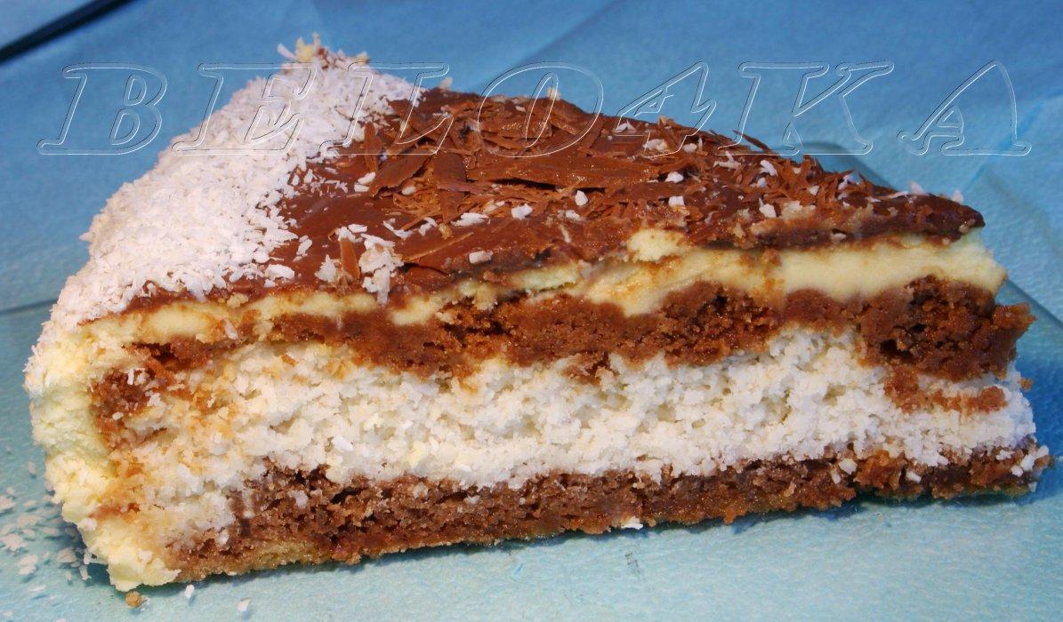 рецепт торта рафаэлло с прослойкой безе