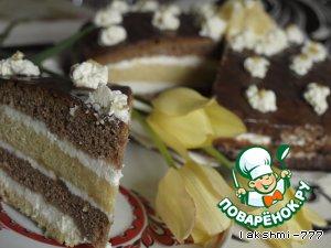 Нежный торт с лимонным кремом
