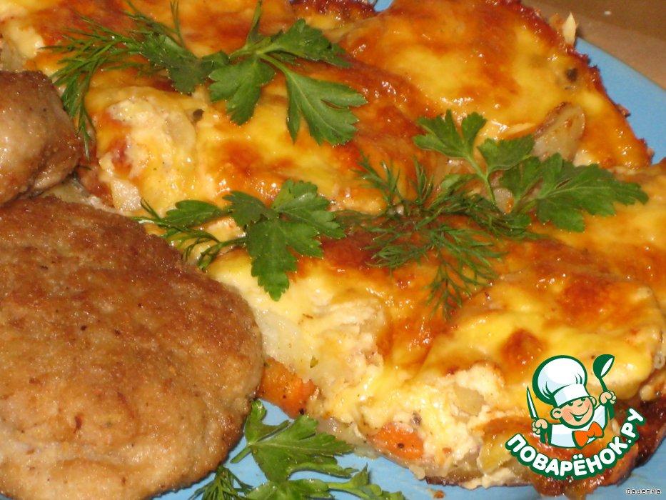 запечь картошку в духовке с мясом рецепт