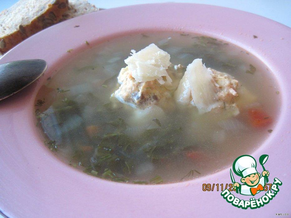 Суп с рыбными фрикадельками пошаговый рецепт с с